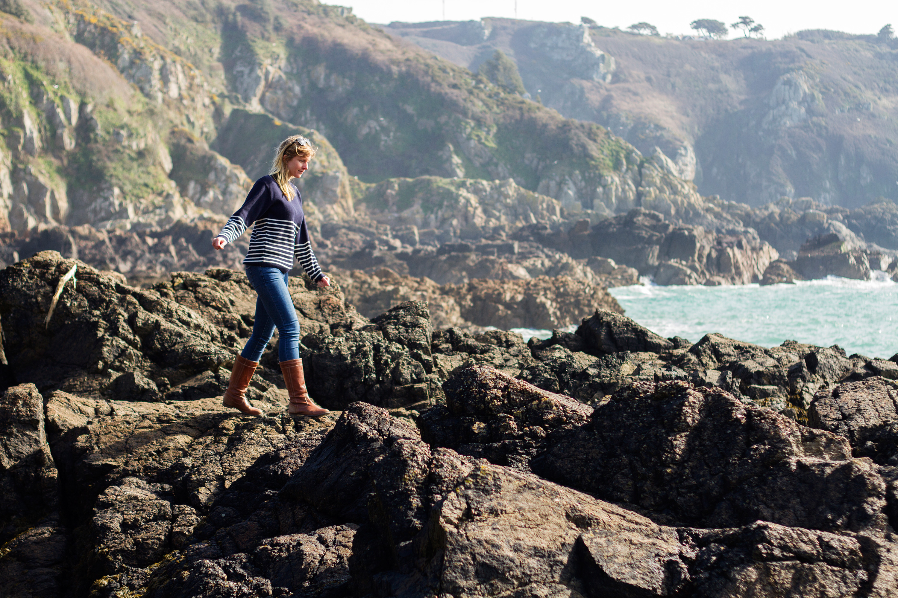 Exploring the cliffs and coves of Guernsey's south coast