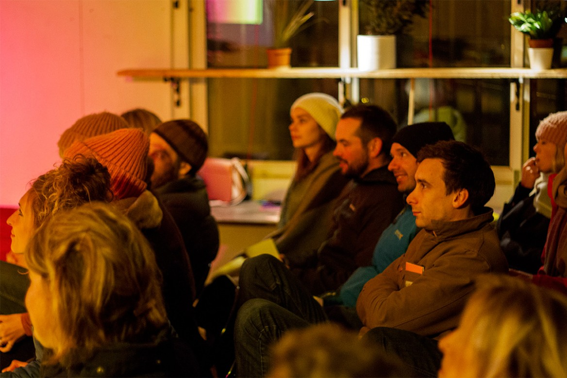 the audience at the november 2017 as one talks event hosted by hailer