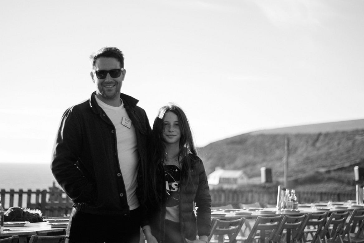 ben quinn of woodfired canteen with his daughter evie at goodfest cornwall 2019